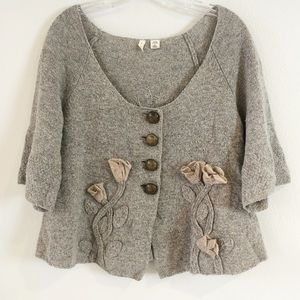 ANTHROPOLOGIE MOTH BREKKA CARDIGAN M